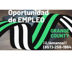 OPORTUNIDAD DE EMPLEO ORANGE COUNTY
